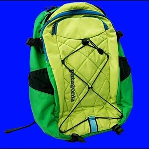 PATAGONIA LIME GREEN HEAVY DUTY BACKPACK